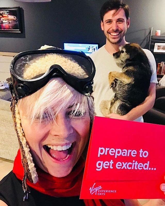 @nicolafm ready for the skies, but are the skies ready for you? 🛫🛬 One of our fave snaps ever. Have an amazing time! And shout out to your adorable pooch 🐶🐾 #VirginExperienceDays #TakeOn2018