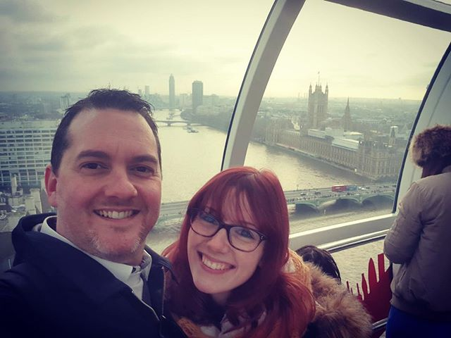 Our 1 Year And 6 Month Anniversary. 😘 #TheLondonEye #LondonEye #1YearAnd6MonthAnniversary #Love #EngagementPresent #Gift #Present #Couple #Engaged #Fiancé #Fianceé #Selfie #London #Beautiful #England #View #SightSeeing #TheLondonSteakhouseCompany #VirginExperience