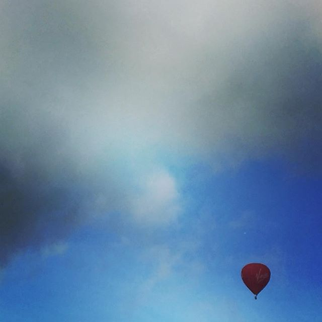 Things you see when you cycle #hotairballoon #sights #virginexperience