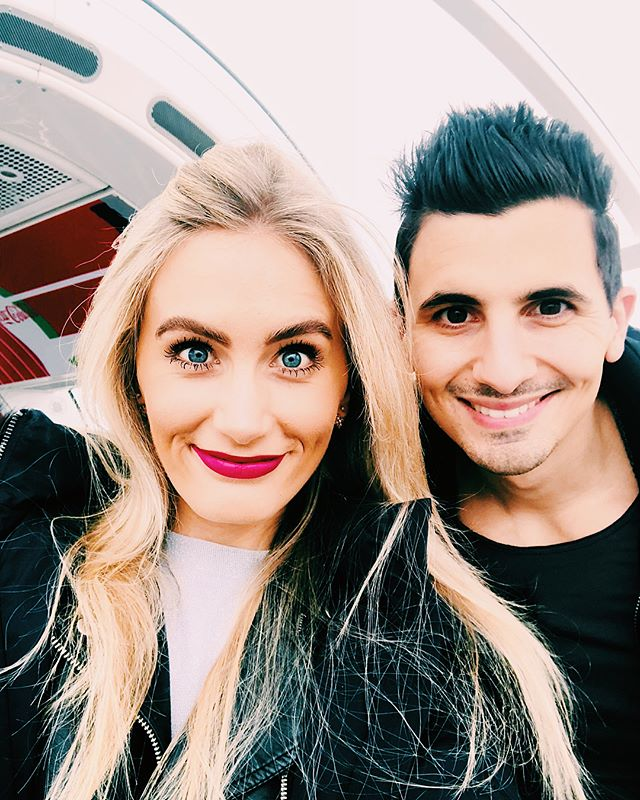 Spending the afternoon in the clouds, celebrating @lucadw87 and the new adventure that awaits him this week ❤️ #virginexperience #londoneye #proudfiance